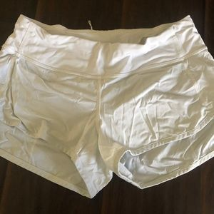White Lululemon Speed Short